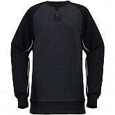 [KT 위즈] 삼각 포인트 스티치 맨투맨 티셔츠 (검정)