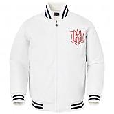 [KT 위즈] 이니셜 유니 봄버 자켓 (백색)