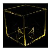 브렛 컬러 큐브 공 케이스 (노랑)